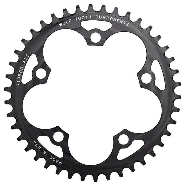 Wolf Tooth Single Road/Cyclocross Kettenblatt 110mm - Drop Stop - schwarz