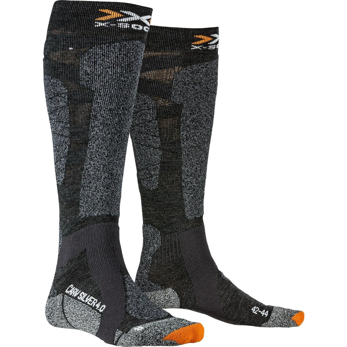 X-Socks Carve Silver 4.0 Socken - anthracite melange/black melange