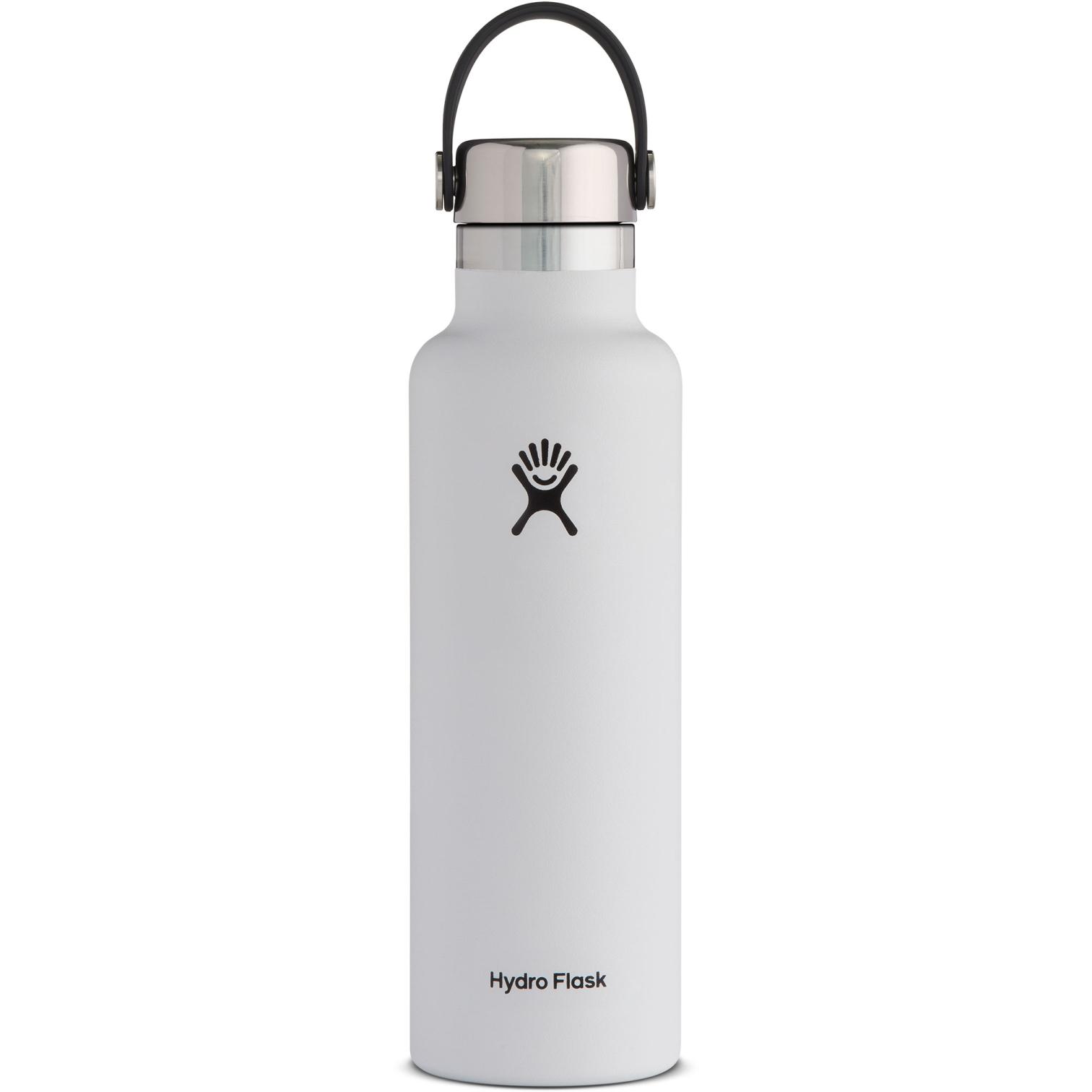 Produktbild von Hydro Flask 21oz Standard Mouth Cap Stainless Steel Thermoflasche - 621ml - weiß