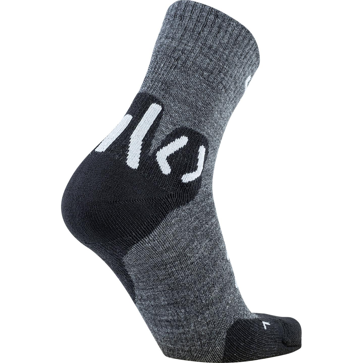 Image of UYN Man Trekking Approach Merino Mid Cut Socks - Anthracite/Black