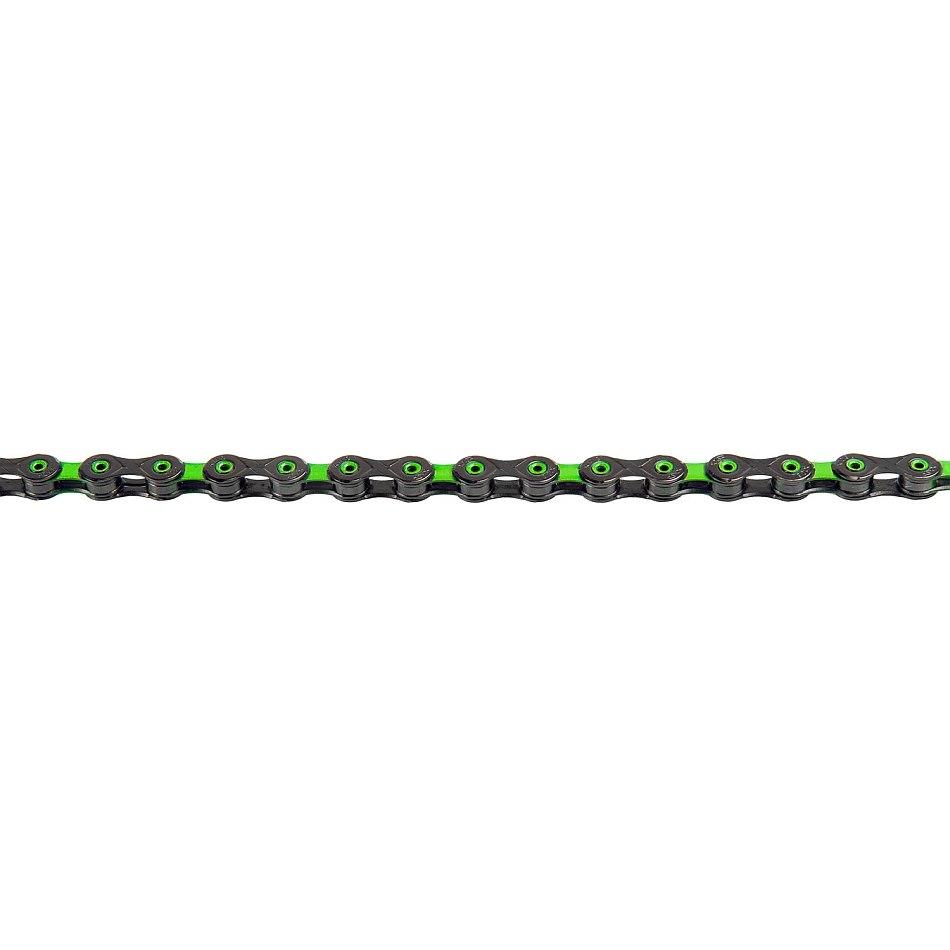 Bild von KMC DLC 12 Kette - 12-fach - schwarz/grün
