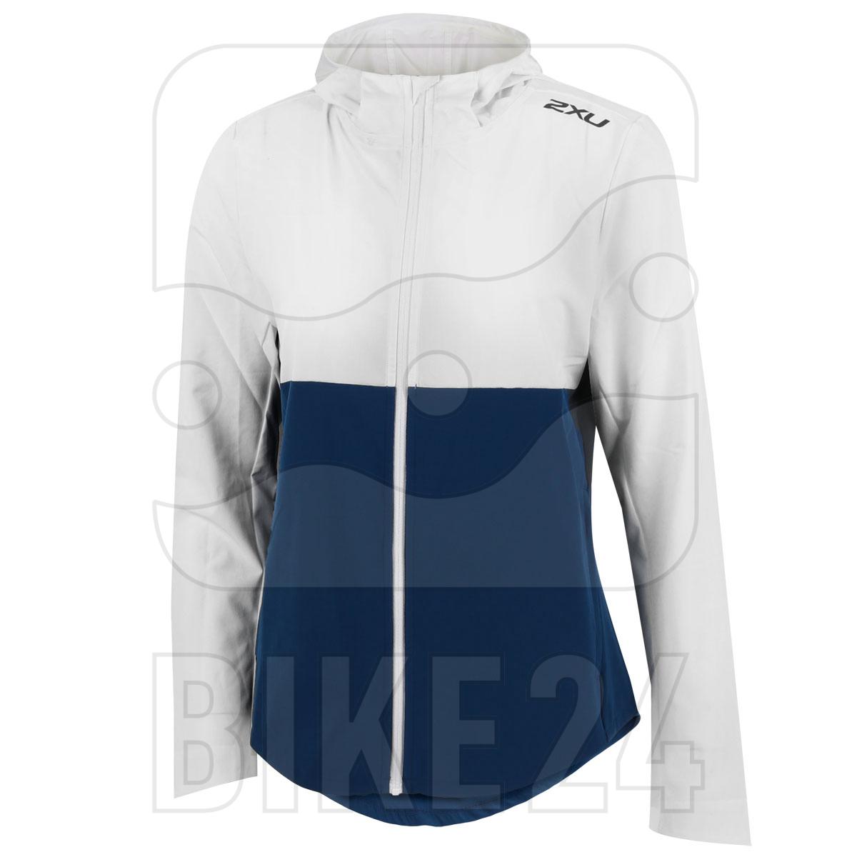 Imagen de 2XU XVENT DWR Chaqueta de correr para mujer - white/poseidon