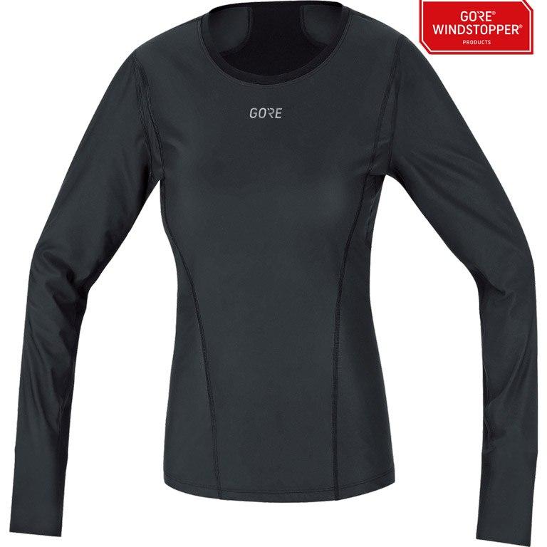 Foto de GORE Wear M GORE® WINDSTOPPER® Base Layer Thermo Camiseta M/L para mujer - black 9900