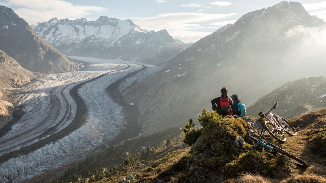 MTB Strecken entlang beeindruckender Gletscherlandschaft