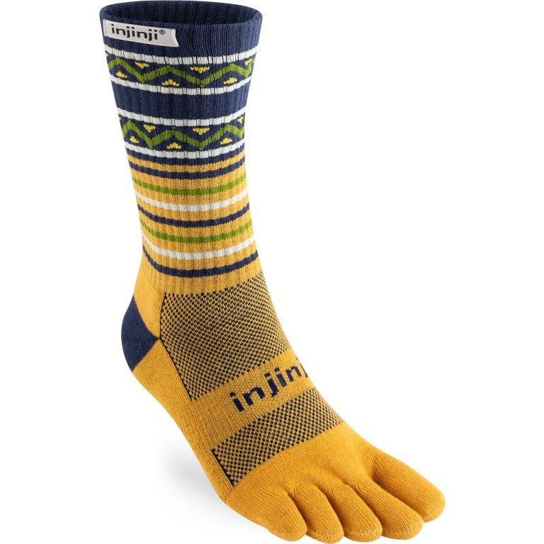 Injinji Trail Midweight Crew Socks - dijon