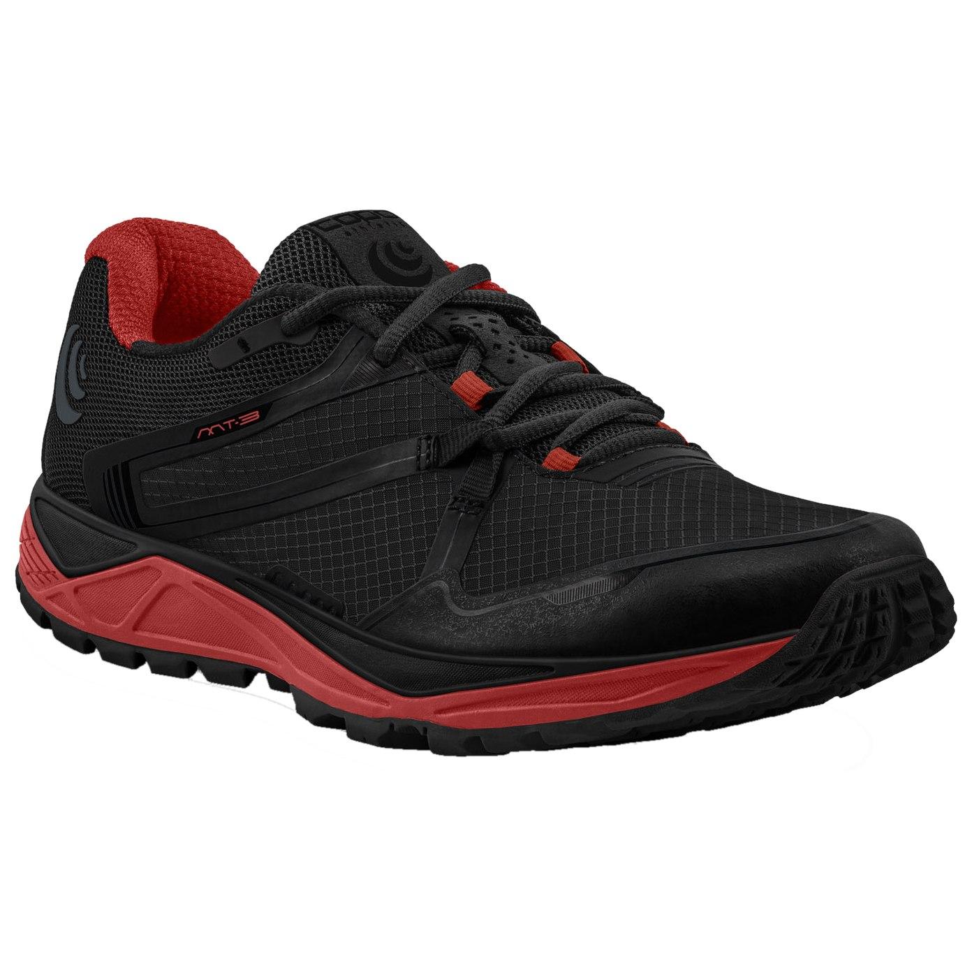 Topo Athletic MT-3 Trail Laufschuhe - schwarz/rot