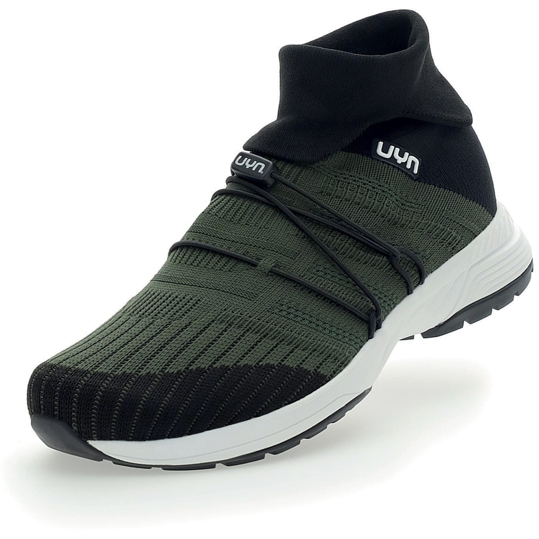 UYN Free Flow Tune High Running Shoes - Military/Black