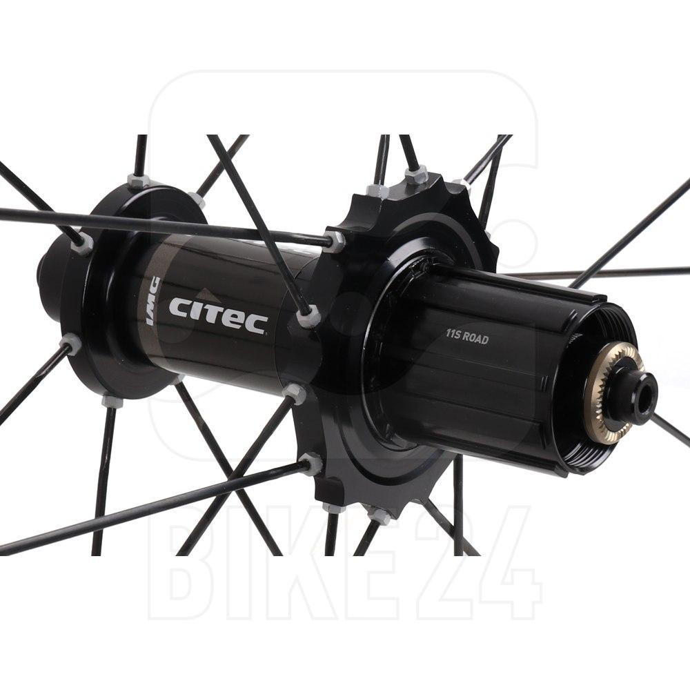Image of CITEC 6000 CX Carbon 28 Inch Rear Wheel - Clincher - black