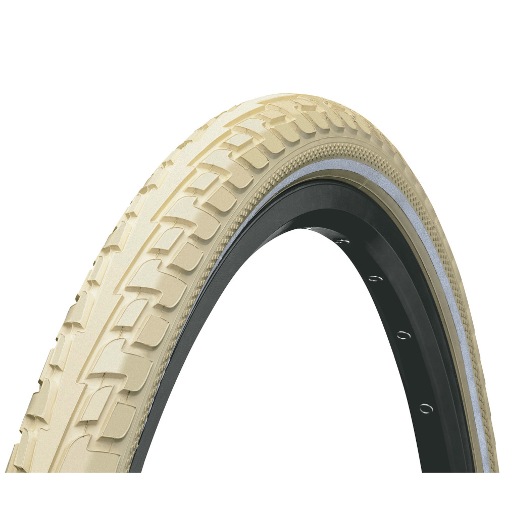 Picture of Continental RIDE Tour Wire Bead Tire - 26x1.75 Inches - creme Reflex