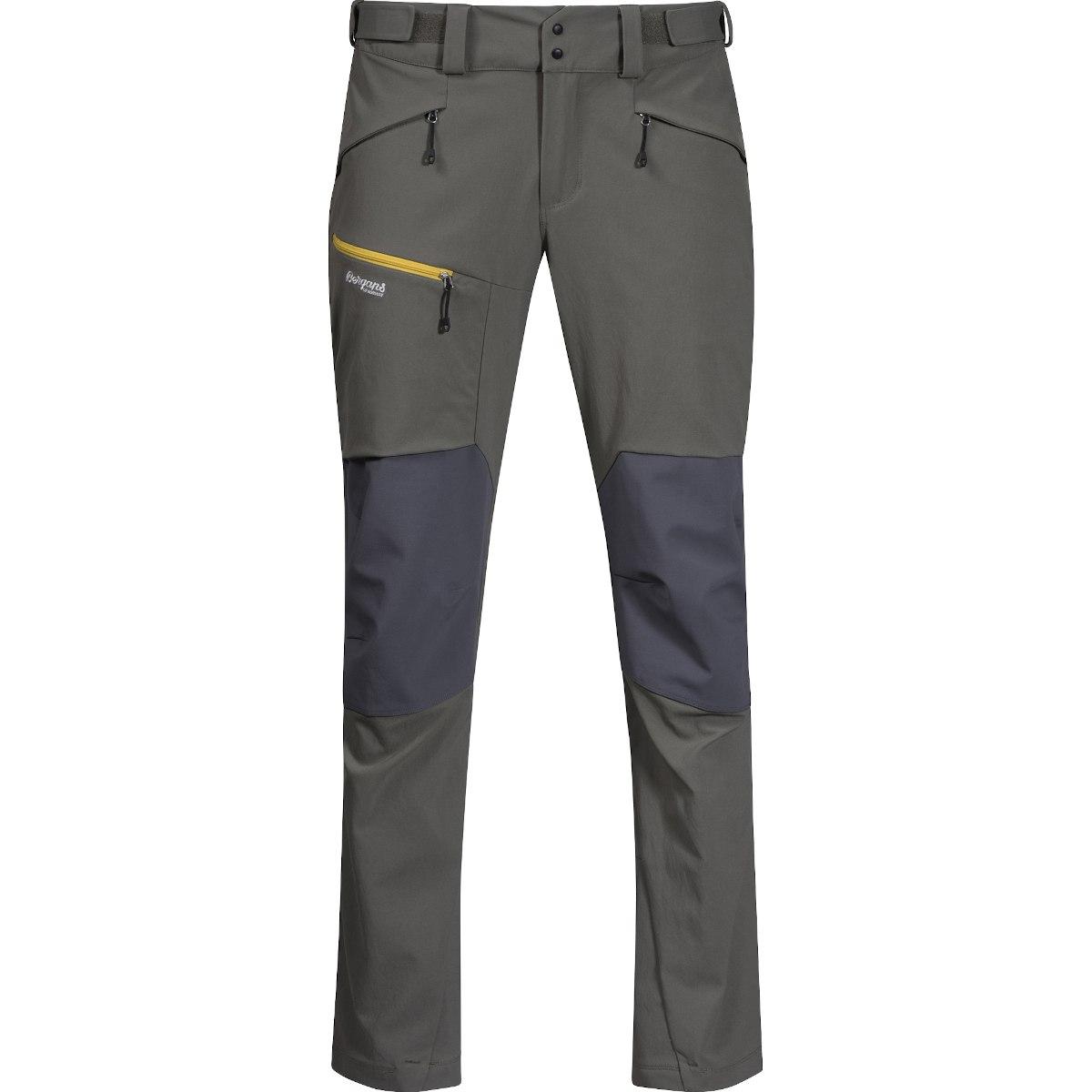 Image of Bergans Rabot 365 Hybrid Pants - green mud/solid dark grey/waxed yellow