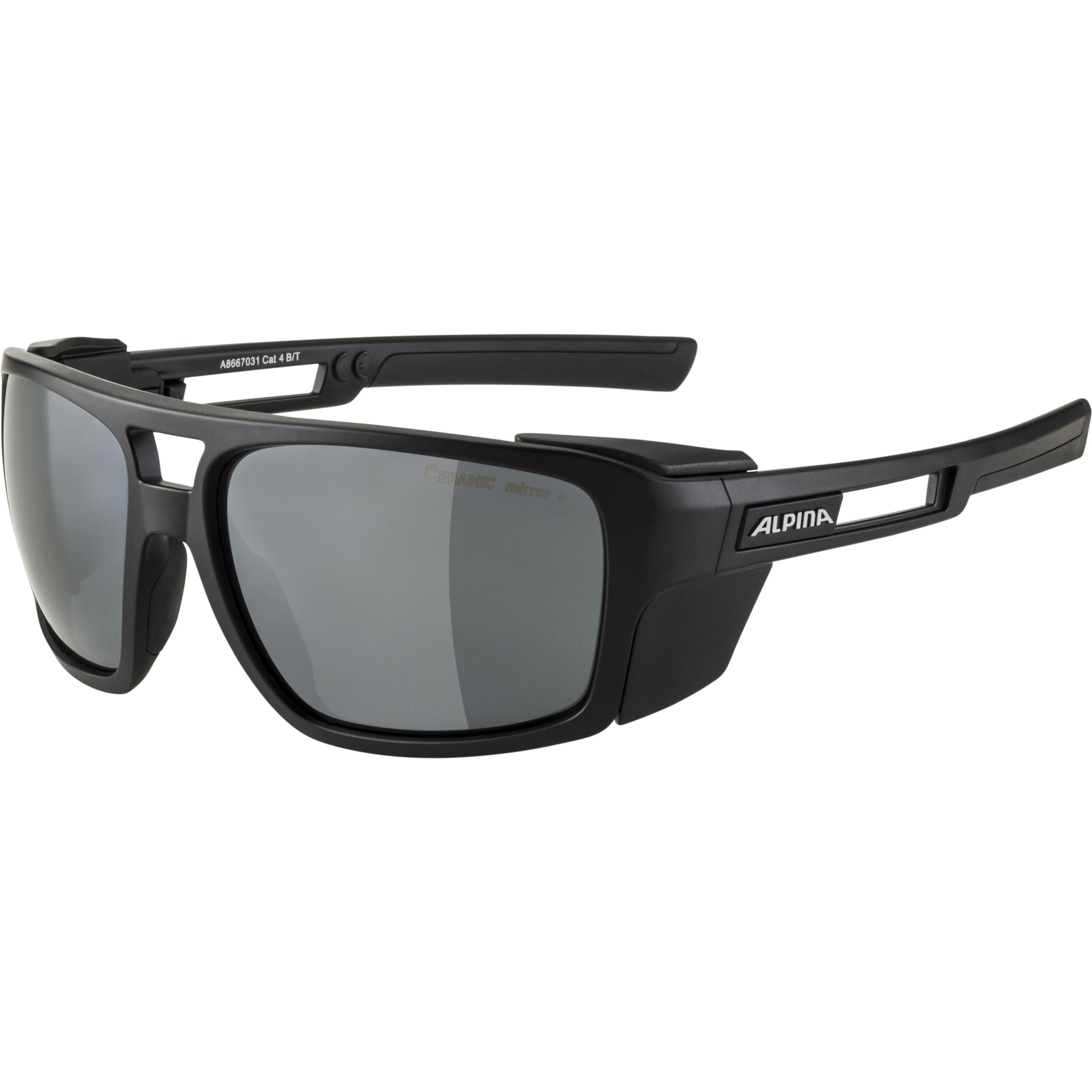 Alpina Skywalsch CM+ Glasses - black matt / black mirror
