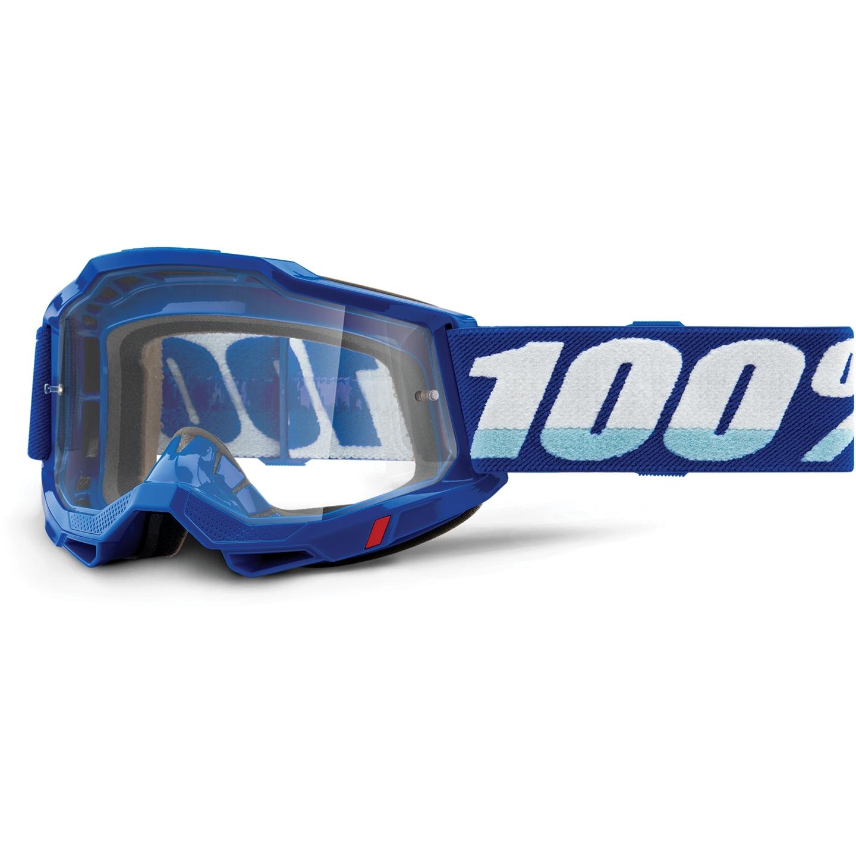 100% Accuri 2 Goggle Clear Lens Gafas - Blue