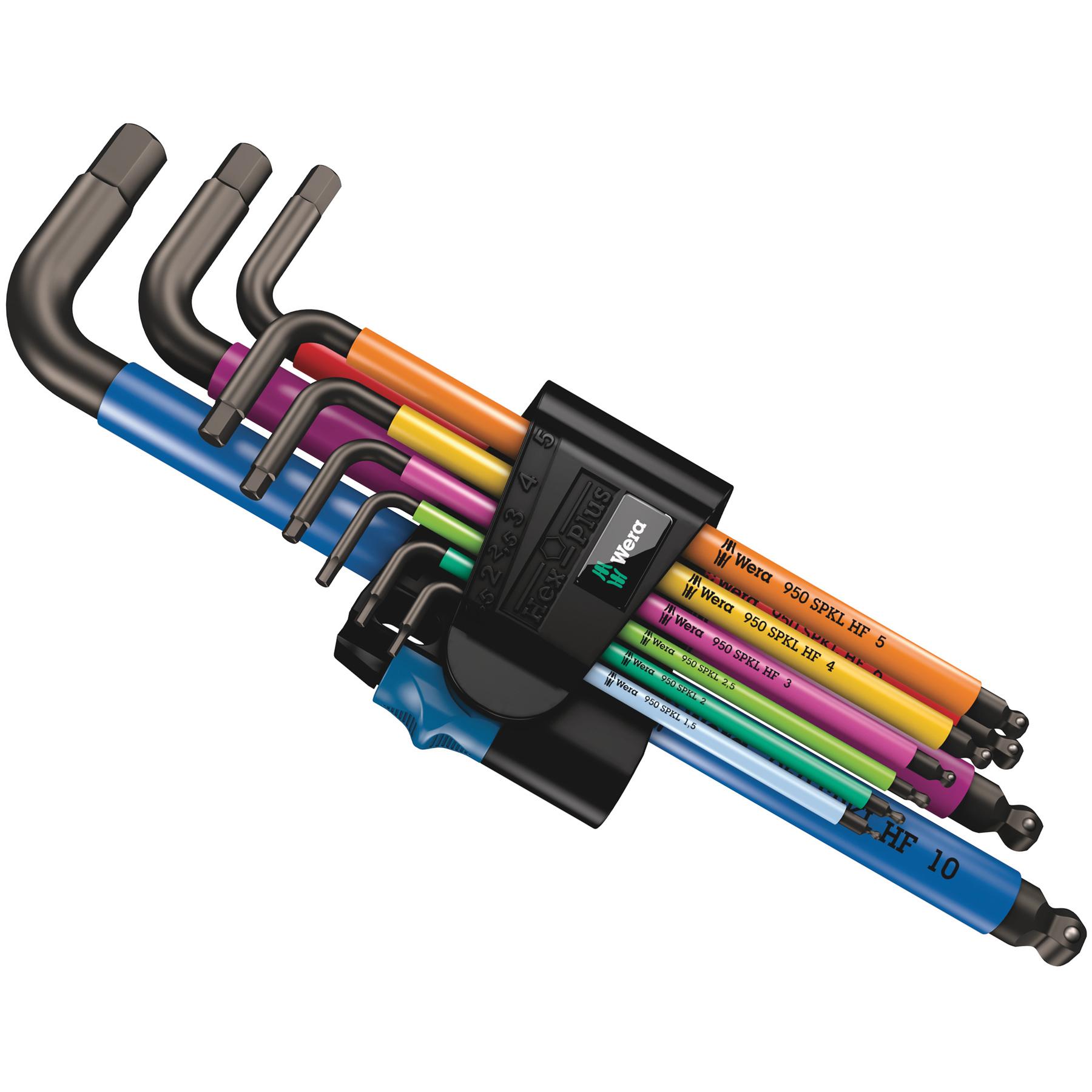 Wera 950/9 Hex-Plus Multicolour HF 1 - Winkelschlüsselsatz Innensechskant