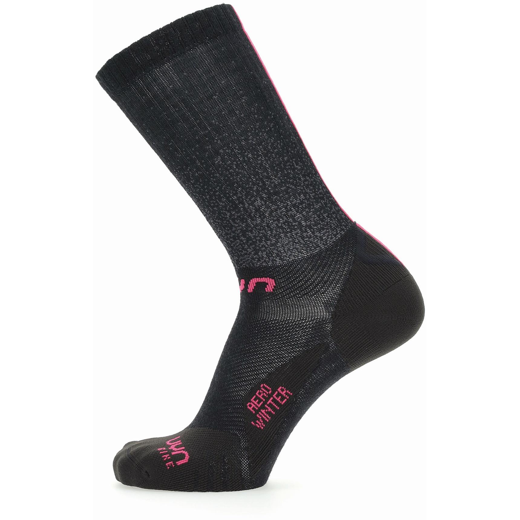 Image of UYN Cycling Aero Winter Socks Women - Black/Pink