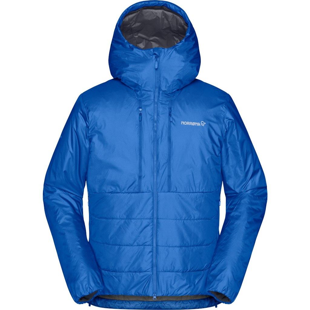 Norrona trollveggen Primaloft100 Zip Hood Chaqueta para Hombre - Olympian Blue