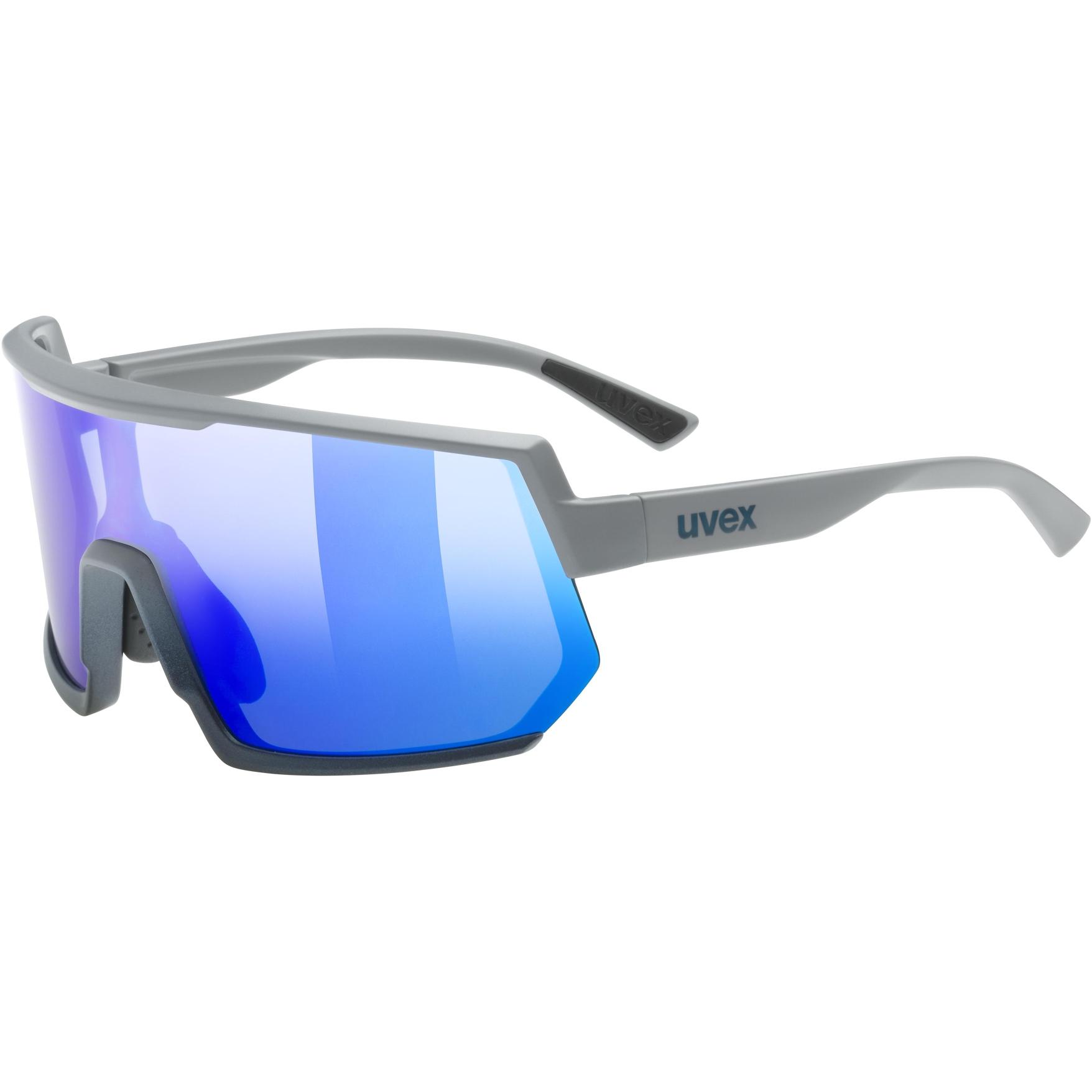 Uvex sportstyle 235 Brille - rhino deep space mat/mirror blue