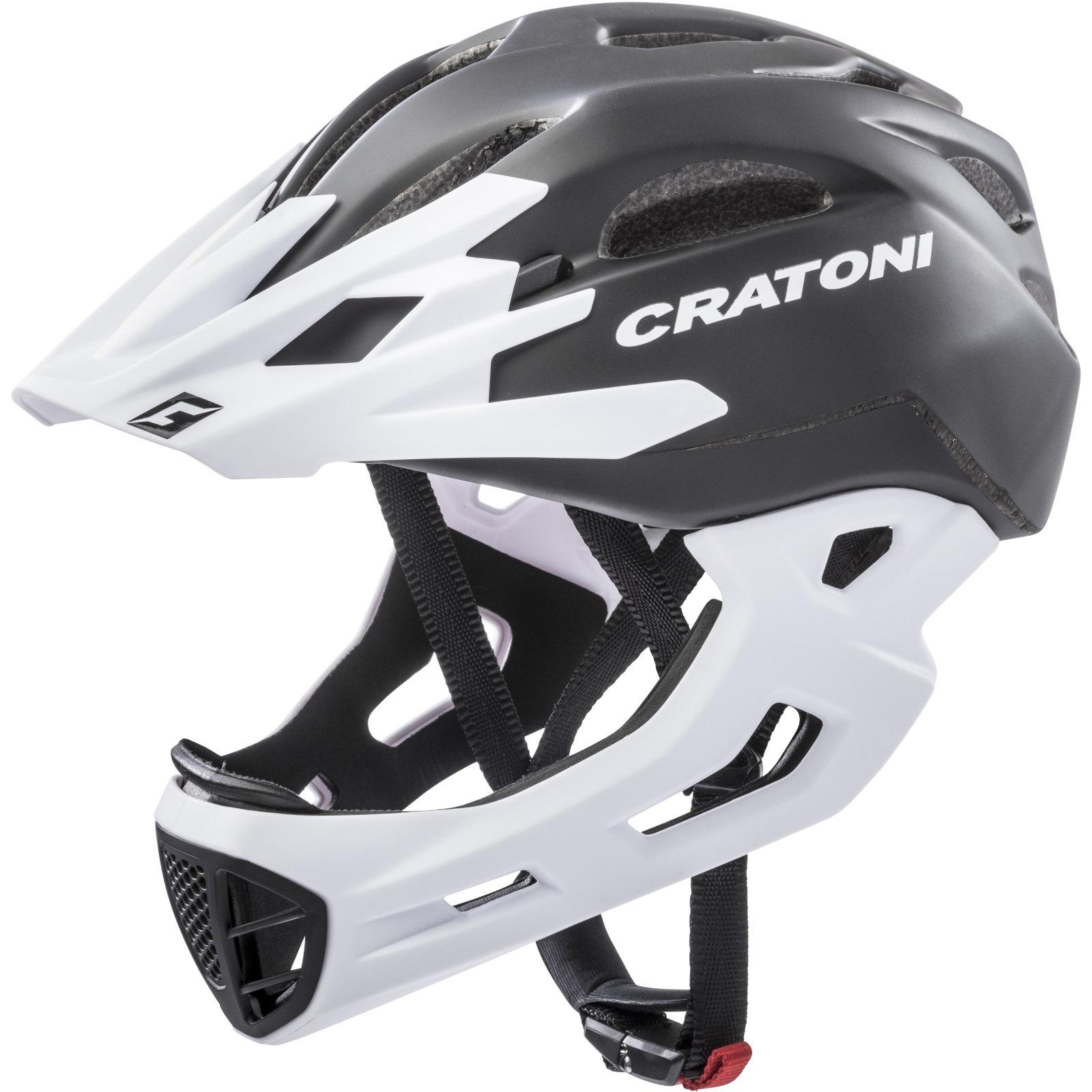 CRATONI C-Maniac Fullface Helmet - black-white matt