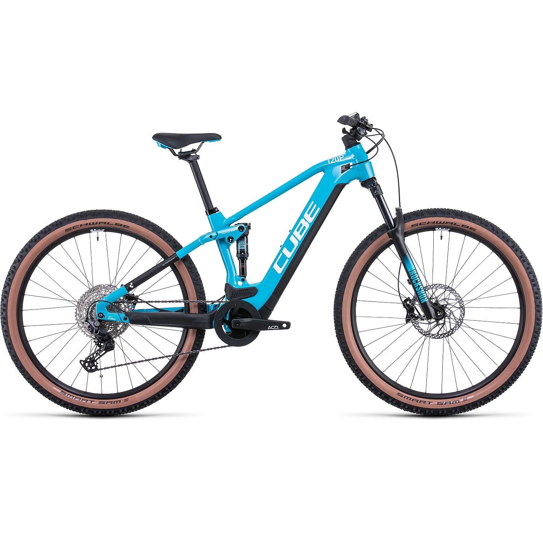 CUBE STEREO HYBRID 120 Pro 625 - Bicicleta Eléctrica de Montana - 2022 - skyblue/white A00