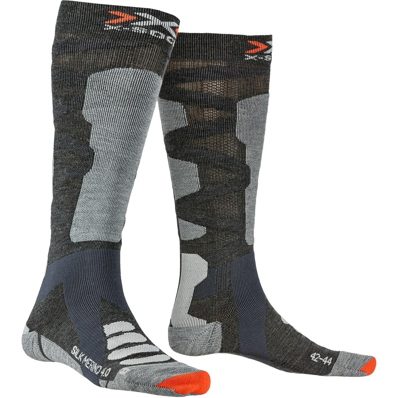 X-Socks Ski Silk Merino 4.0 Socken - anthracite melange/grey melange