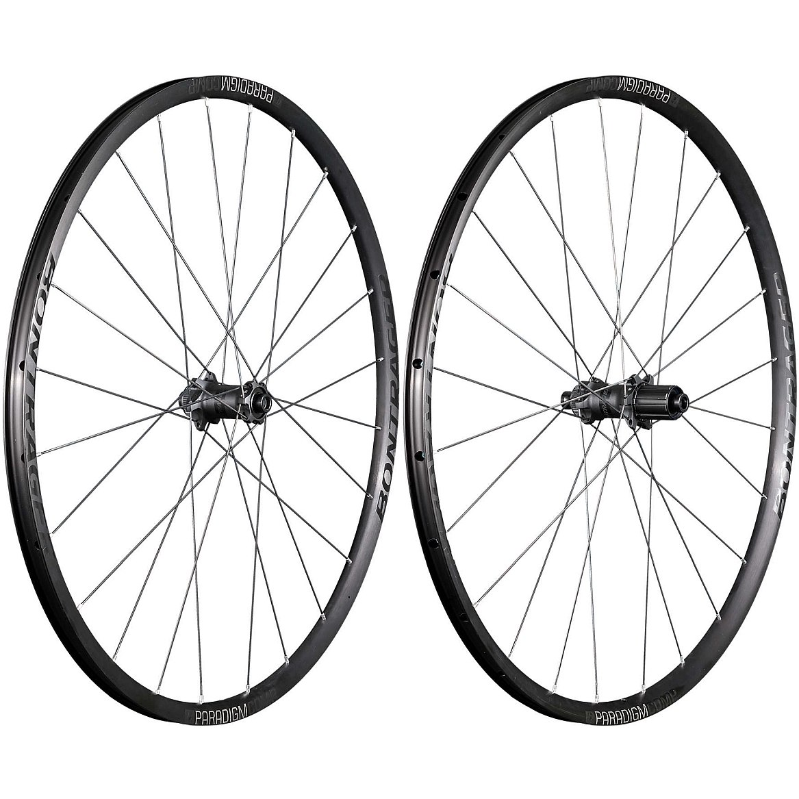 Bontrager Paradigm Comp TLR Disc Road Wheelset - Clincher - Centerlock - FW: 12x100mm / RW: 12x142mm