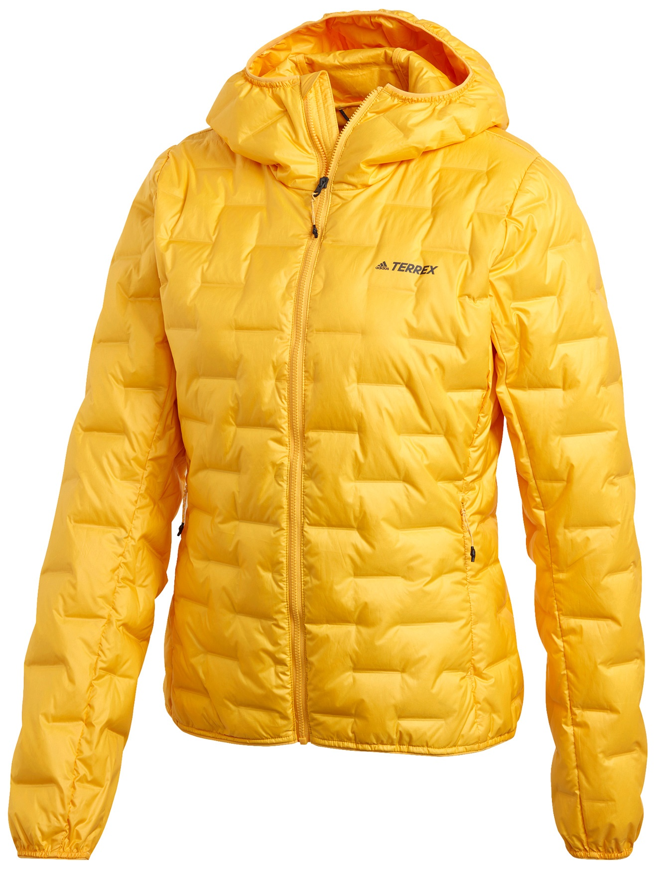 adidas Women's TERREX Light Hooded Down Jacket - active gold FT6960
