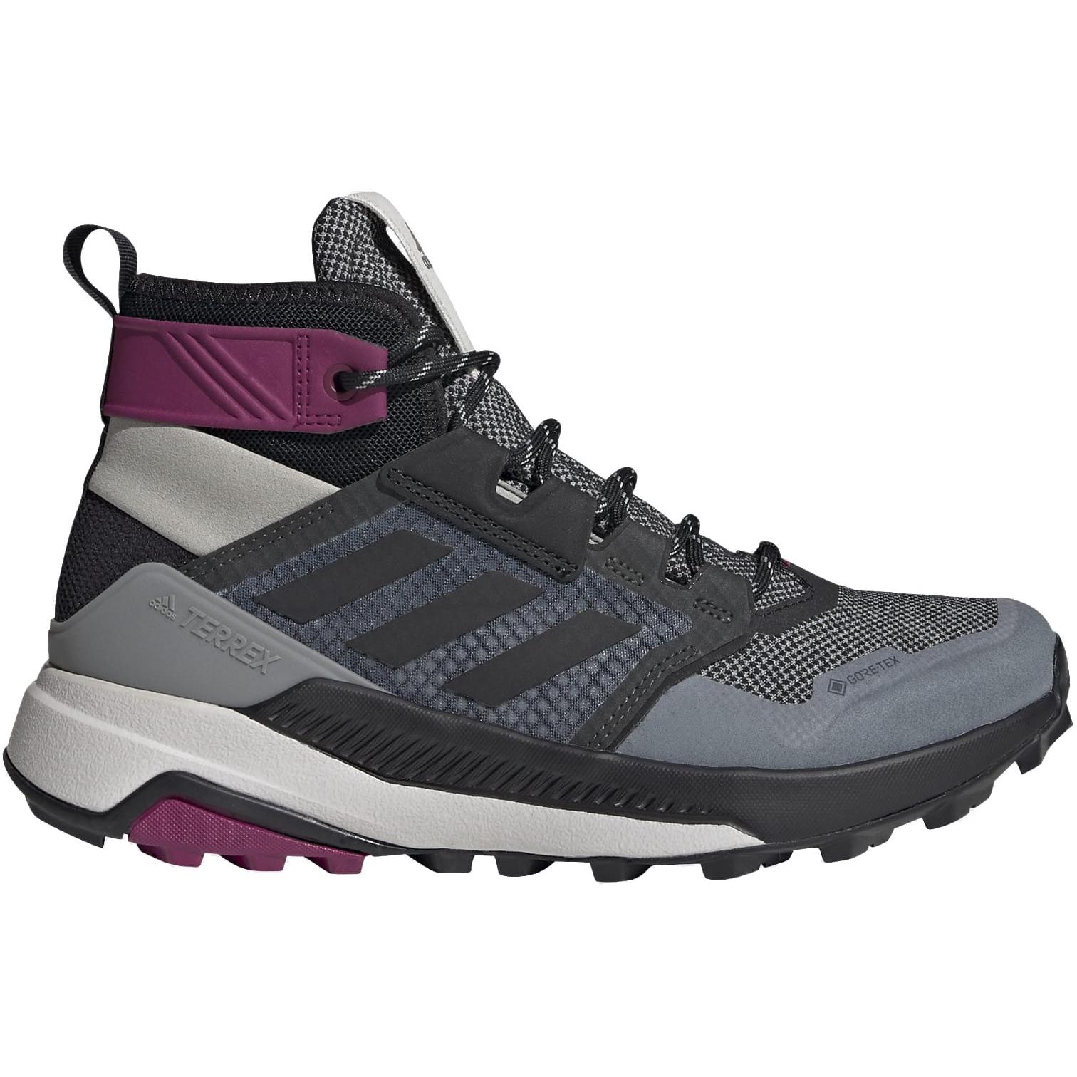adidas Frauen TERREX Trailmaker Mid GORE-TEX Wanderschuhe - metal grey/core black/power berry FY2236