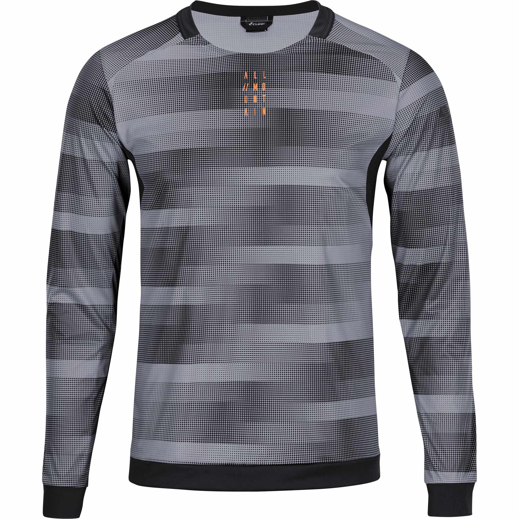Picture of CUBE ATX WS Round-Neck Longsleeve Jersey - grey'n'black