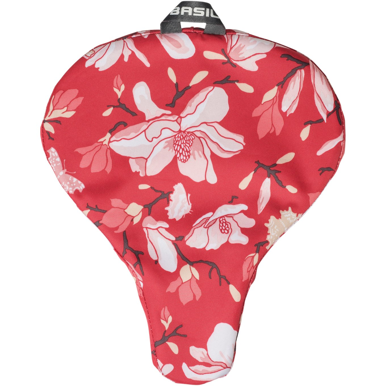 Basil Magnolia Saddle Cover - poppy red