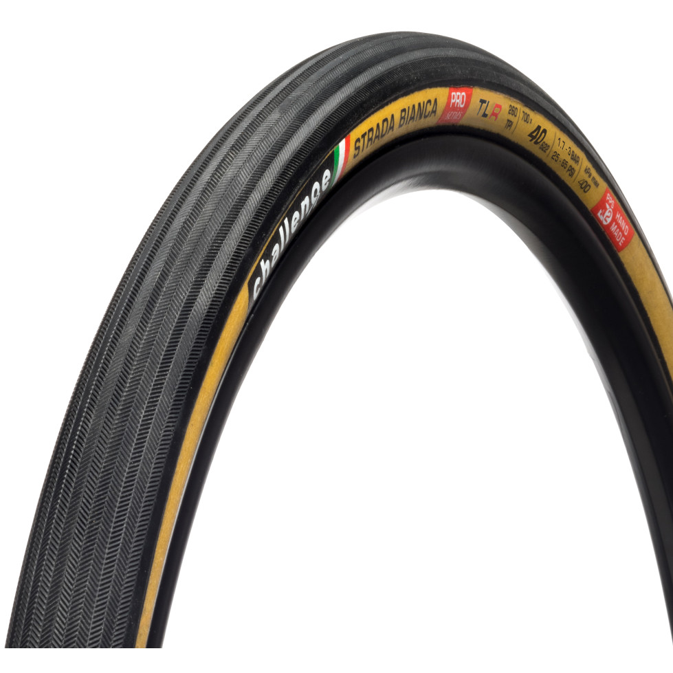 Bild von Challenge Strada Bianca Pro Handmade TLR Faltreifen - 40-622 - schwarz/braun