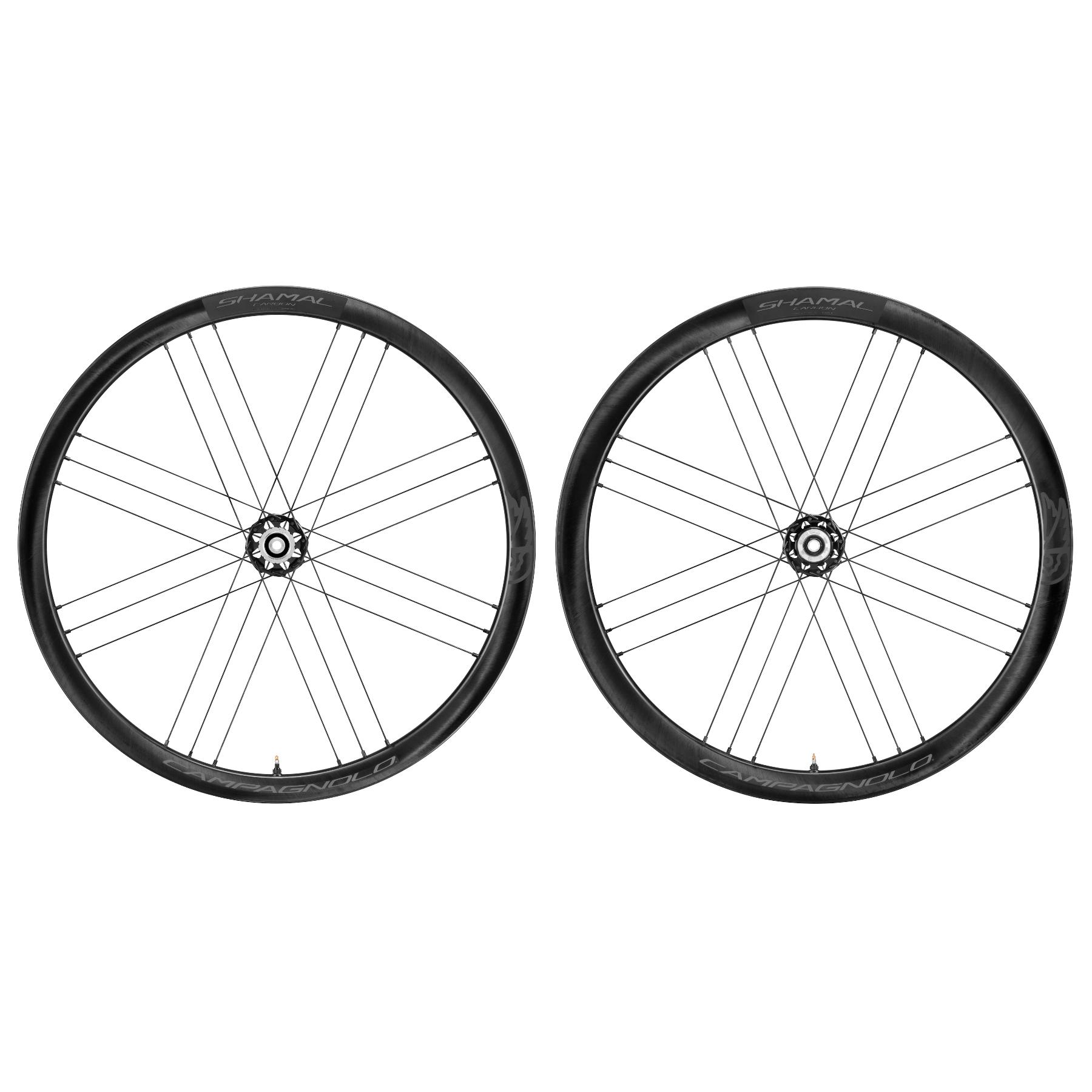Campagnolo Shamal Carbon C21 DB - 28 Inch Wheelset - 2-Way Fit - AFS - FW: 12x100mm   RW: 12x142mm - Campagnolo N3W