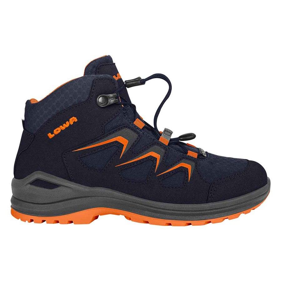 LOWA Innox Evo GTX QC Junior Kids Shoe - navy/orange (Size 27-35)