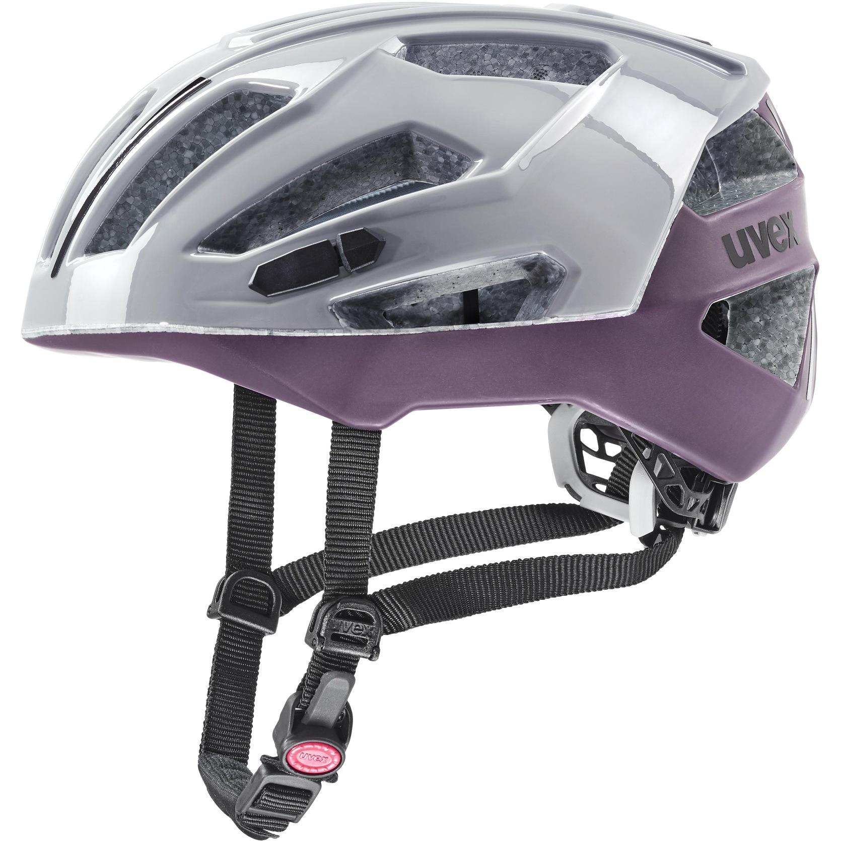 Image of Uvex gravel-x Helmet - rhino-plum