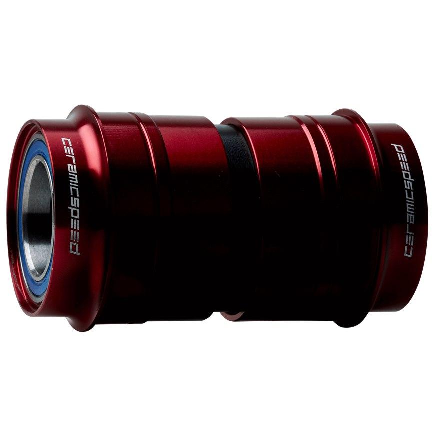 Image of CeramicSpeed Coated PF30 Ceramic Bottom Bracket - PF46-73-24 - red