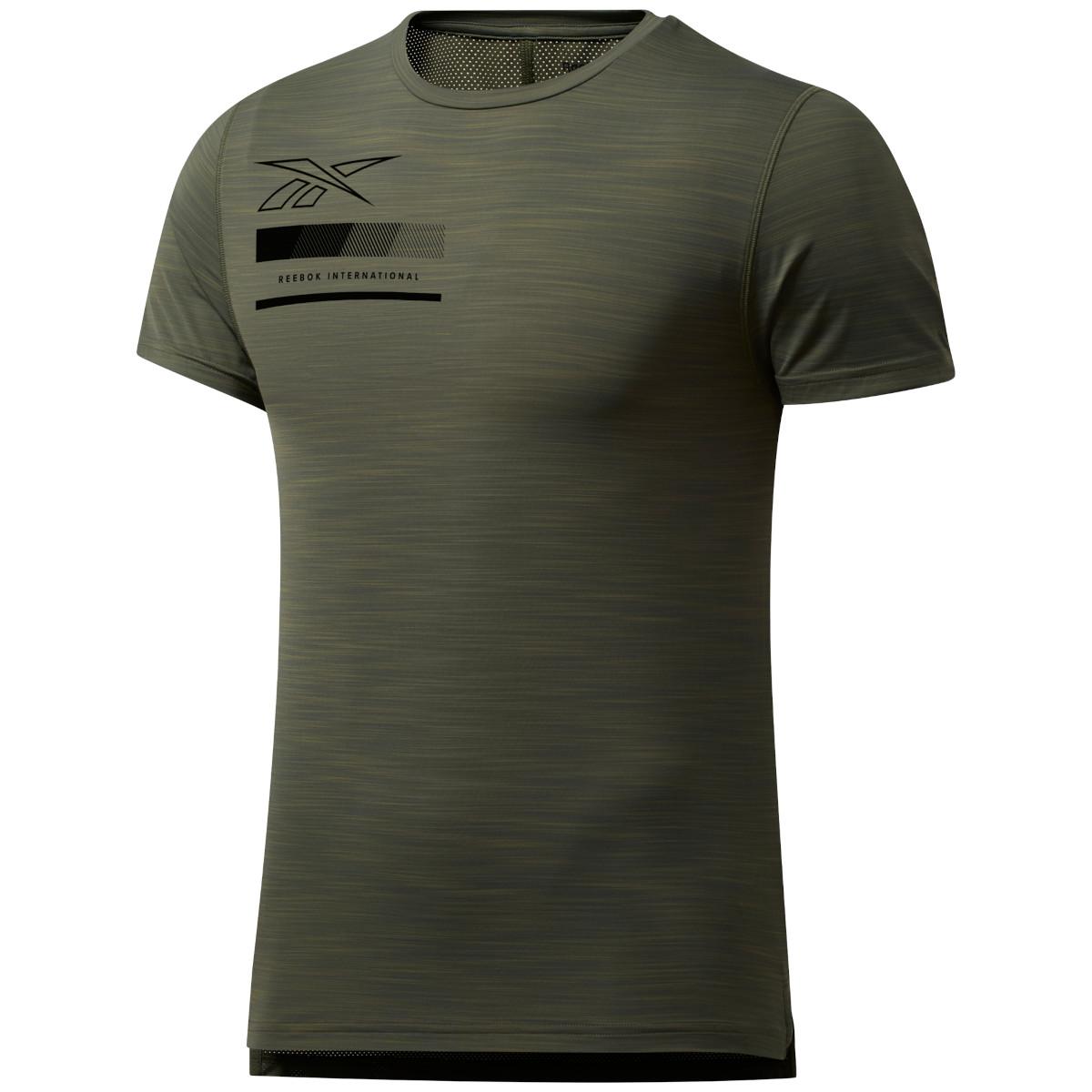 Reebok Männer Activchill Graphic Move T-Shirt - poplar green FU2882
