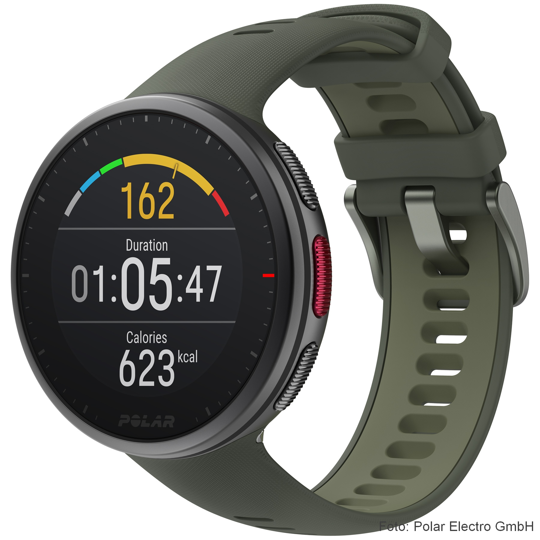 Produktbild von Polar Vantage V2 GPS Multisport Uhr - grün