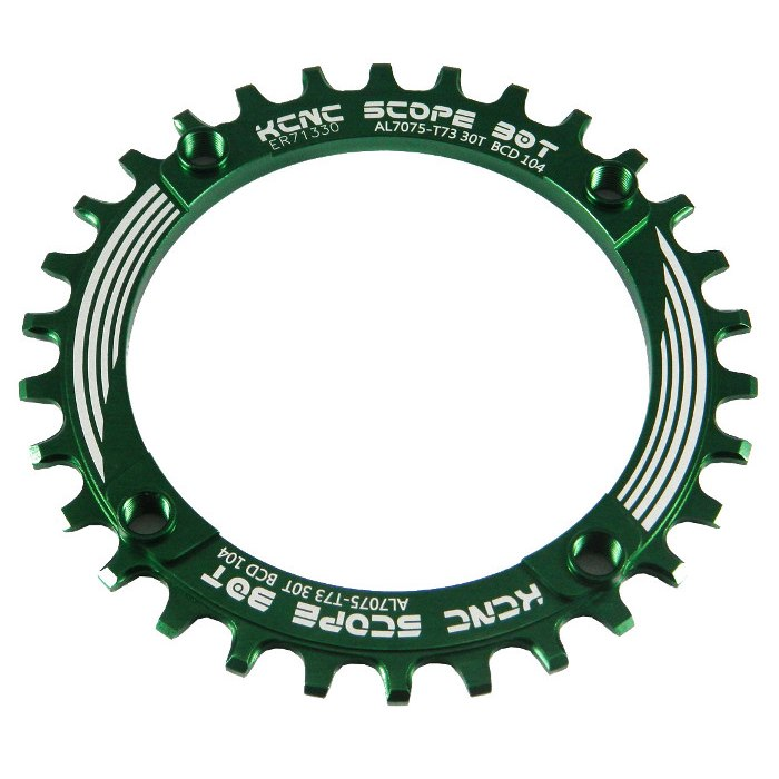 KCNC Scope MTB Chainring 104mm 1-speed Narrow-Wide - green