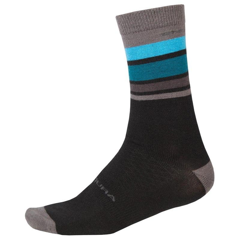 Produktbild von Endura BaaBaa Merino Gestreifte Socken - schwarz