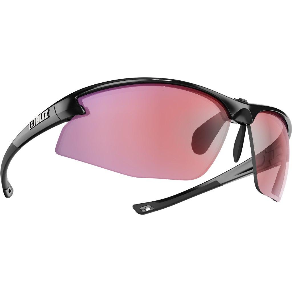 Bliz Motion Shiny Black / Pink with Pink Multi Glasses
