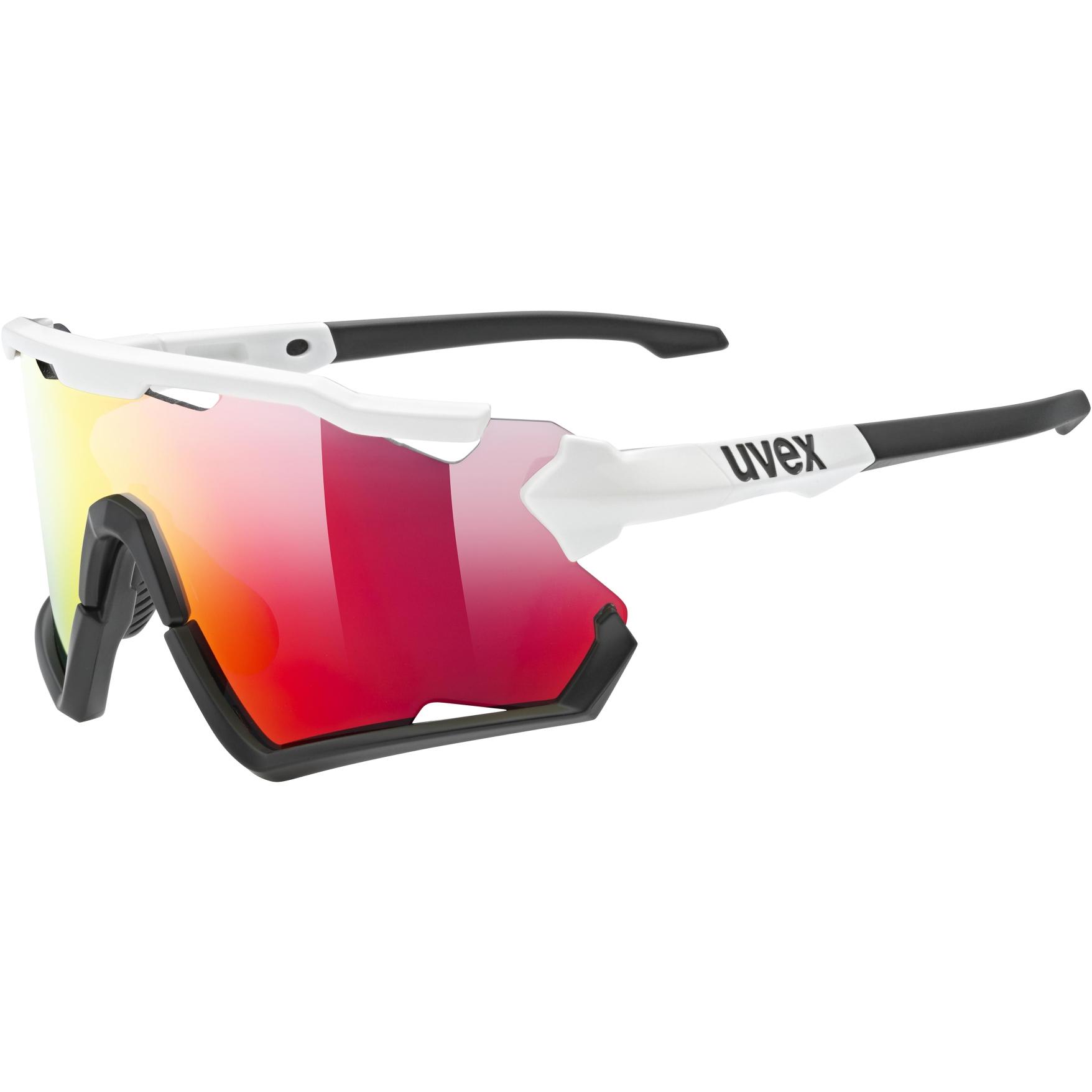 Uvex sportstyle 228 Glasses - white black mat/mirror red