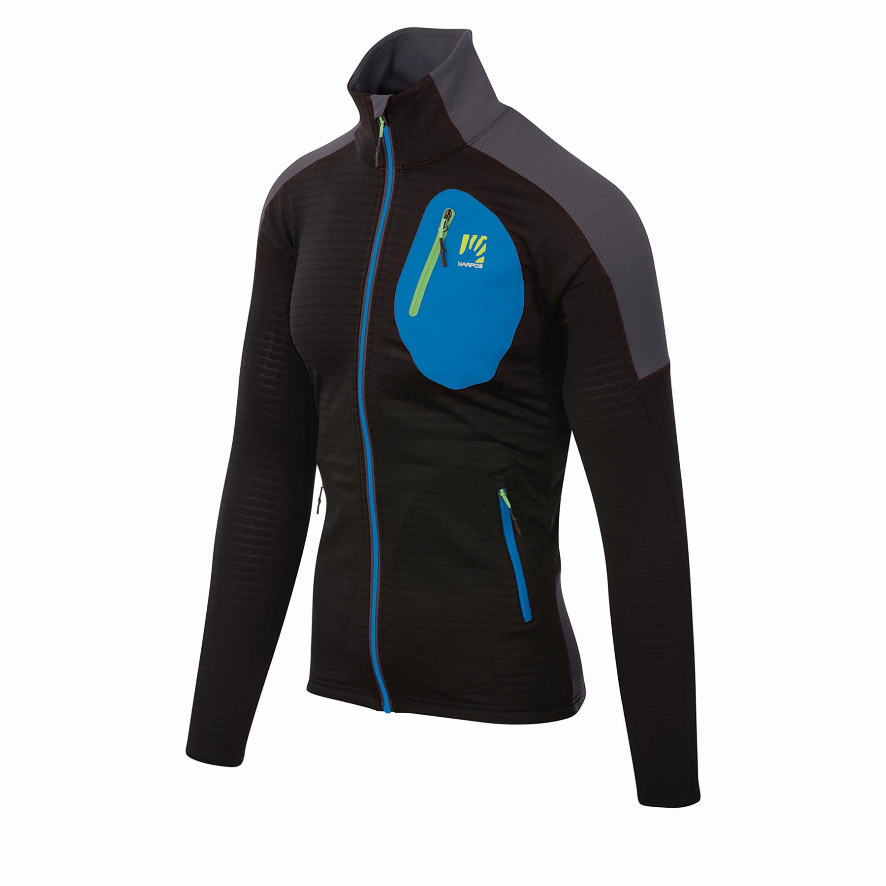 Karpos Puez Fleece Mid Layer Jacket - Black/Dark Grey