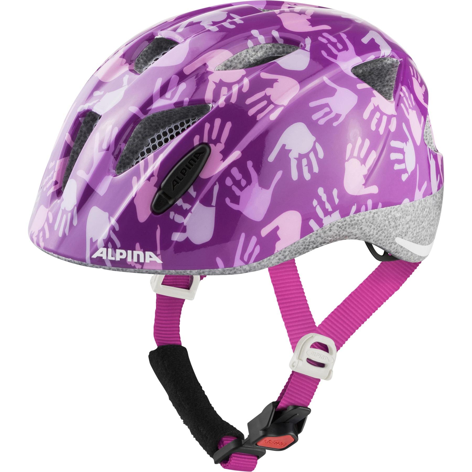 Alpina Ximo Kids Helmet - berry hands gloss