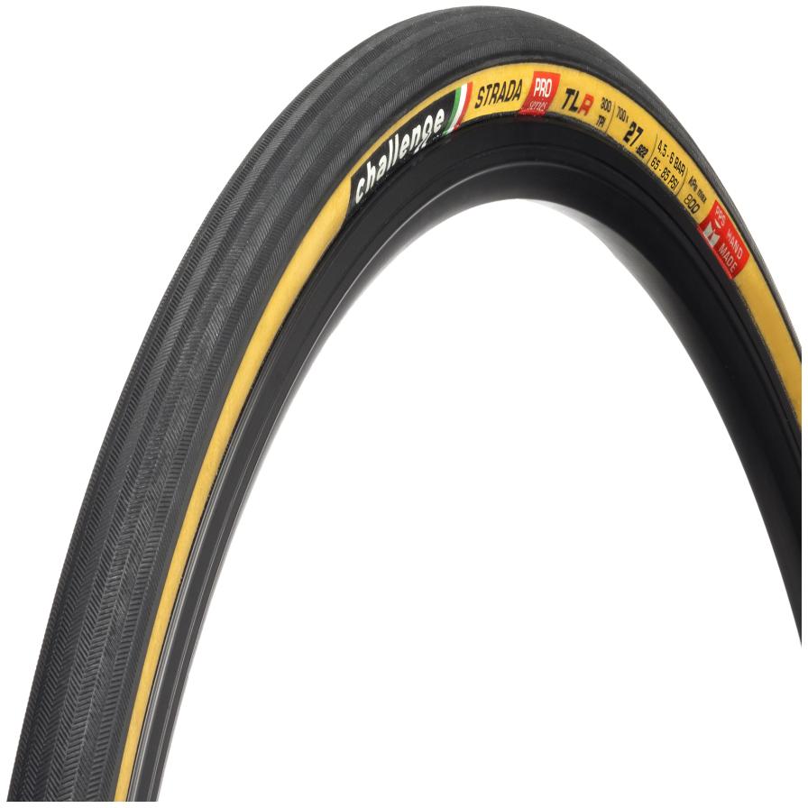 Challenge Strada Pro Handmade TLR Faltreifen - 27-622 - schwarz/hellbraun