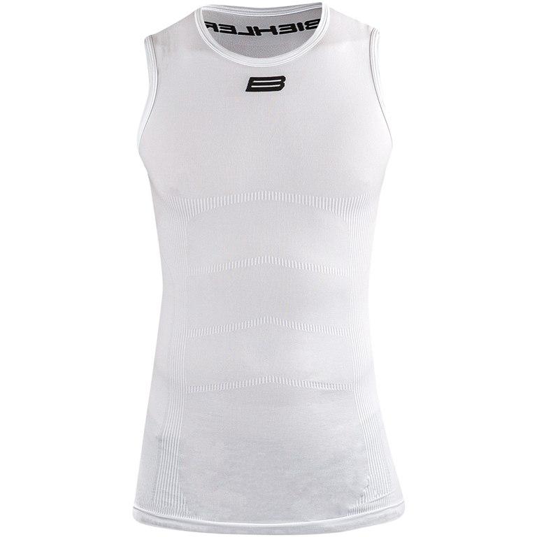 Biehler Seamless Pro Sleeveless Baselayer Undershirt - white
