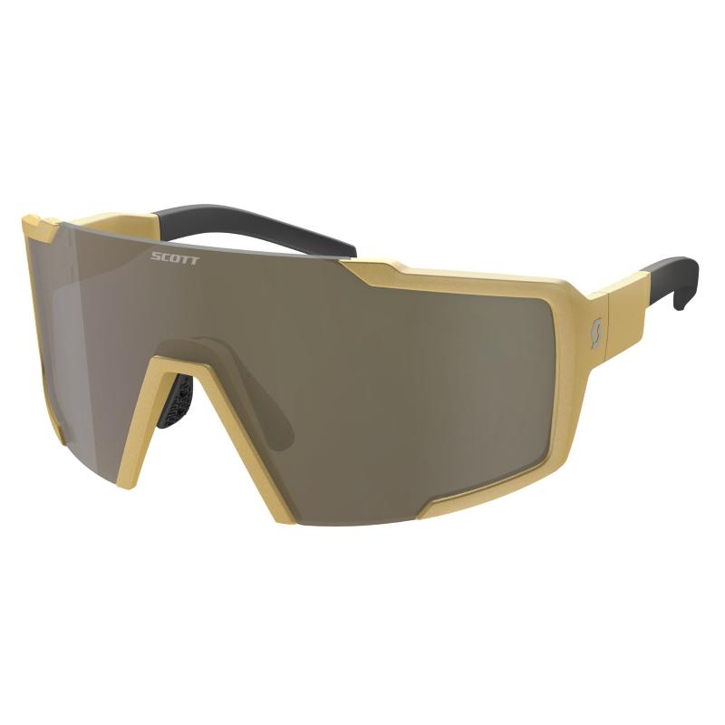 SCOTT Shield Sunglasses - gold / bronze chrome