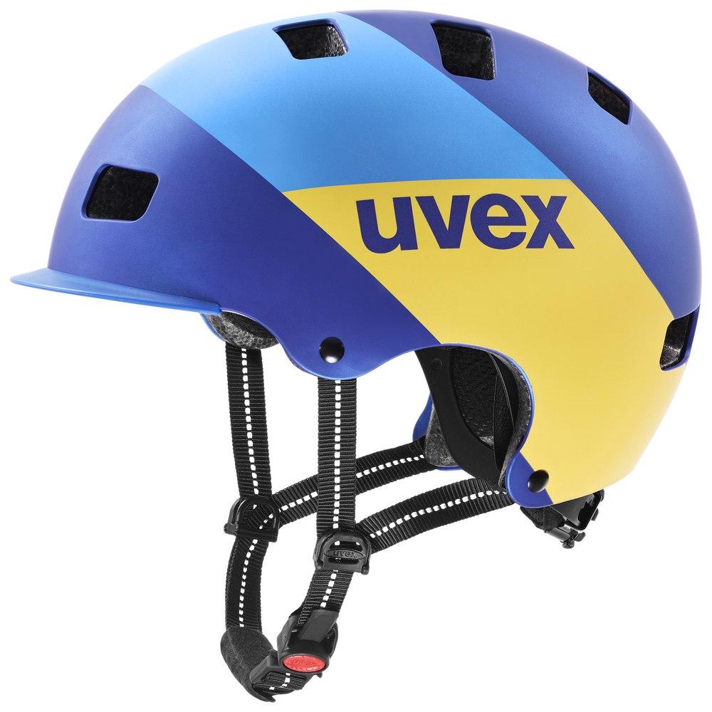 Uvex hlmt 5 bike pro Helm - blue energy mat