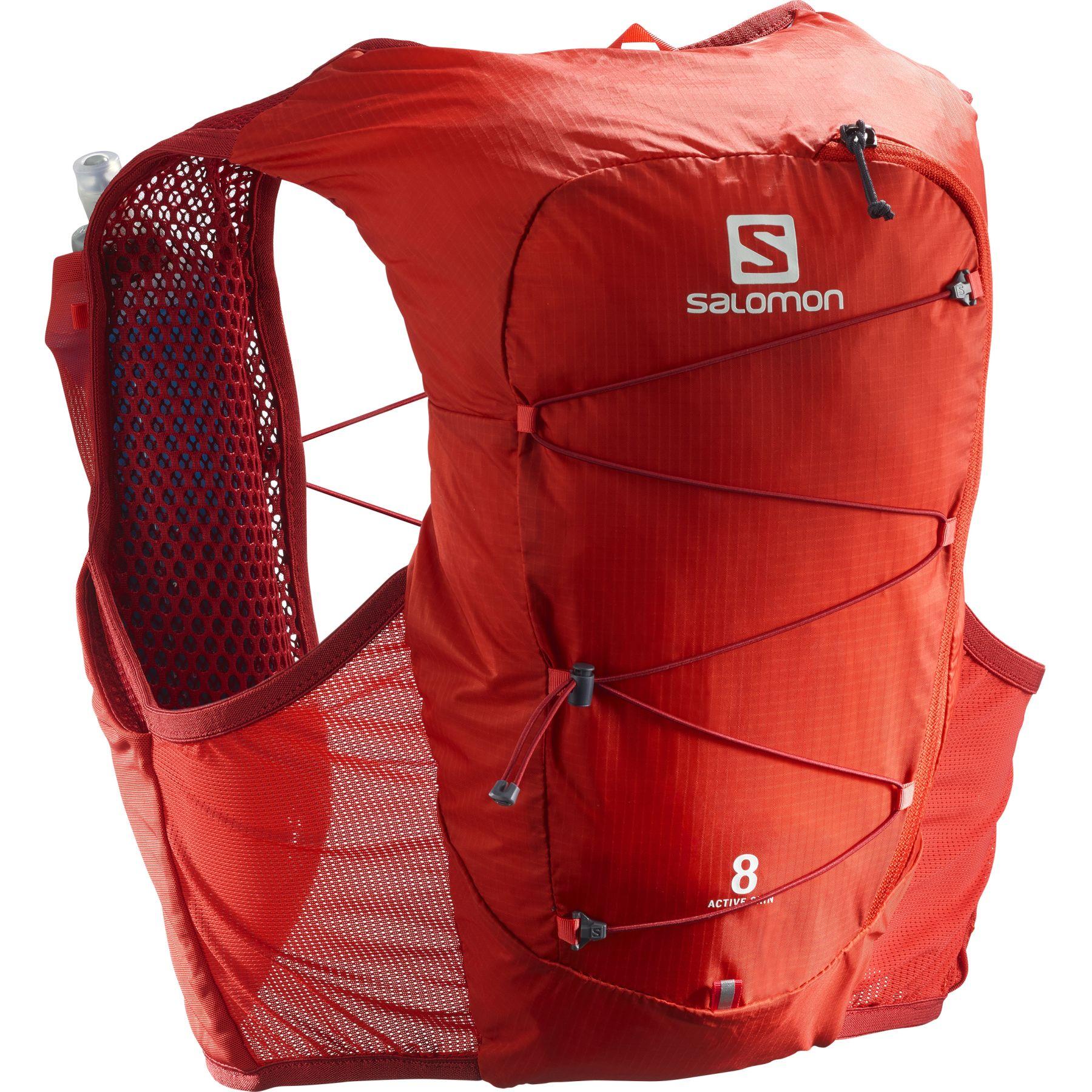 Picture of Salomon Active Skin 8 Set Running Vest - Valiant Poppy/Red Dahlia