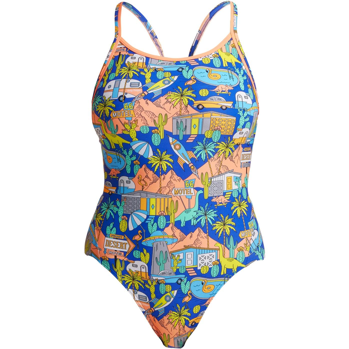 Funkita Ladies Diamond Back One Piece Swimsuit - Wacky West