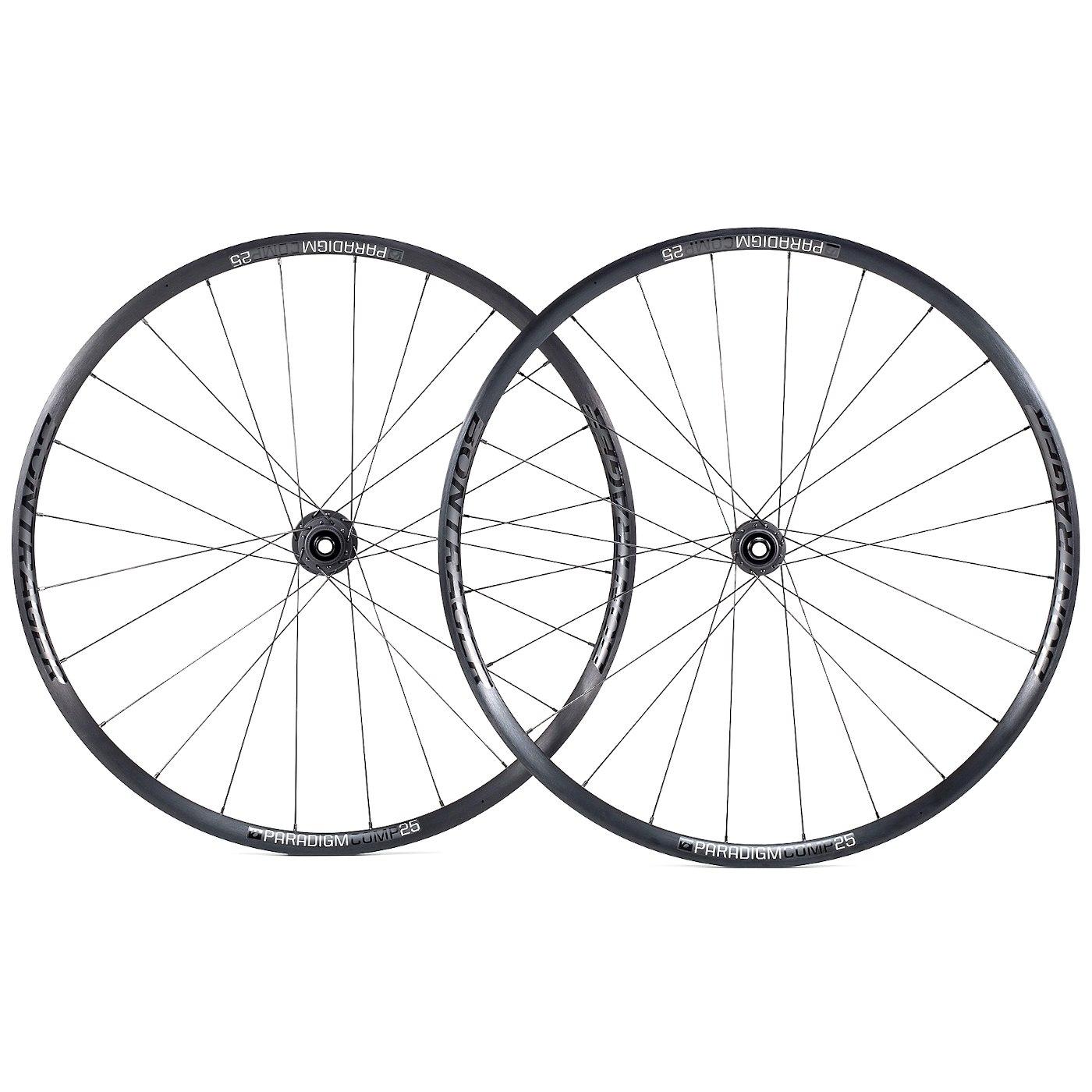 Bontrager Paradigm Comp 25 TLR Disc Road Wheelset - Clincher - Centerlock - FW: 12x100mm | RW: 12x142mm