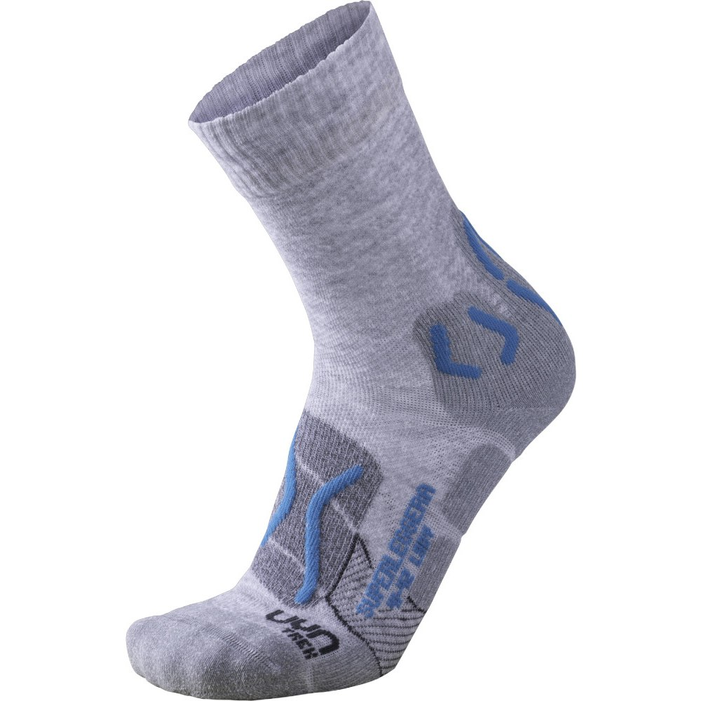 UYN Trekking Superleggera Socken Damen - Light Grey/Turquoise