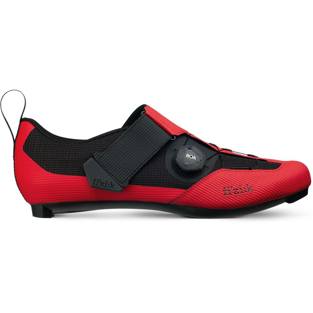 Image of Fizik Transiro Infinito R3 Triathlon Shoe - red/black